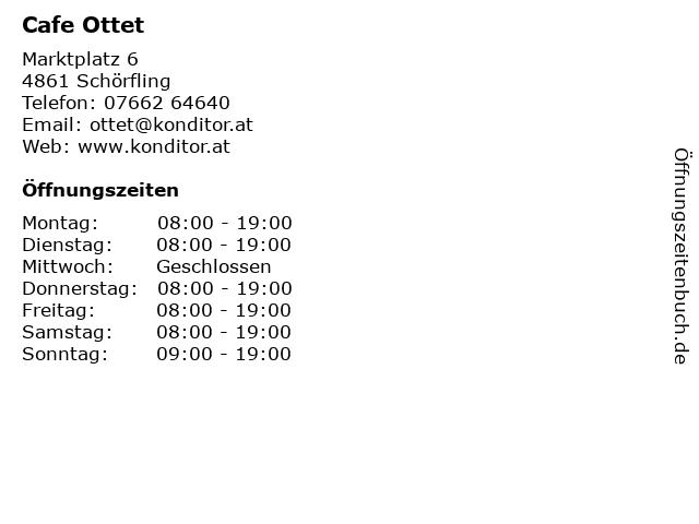 Cafe Ottet in Schörfling: Adresse und Öffnungszeiten