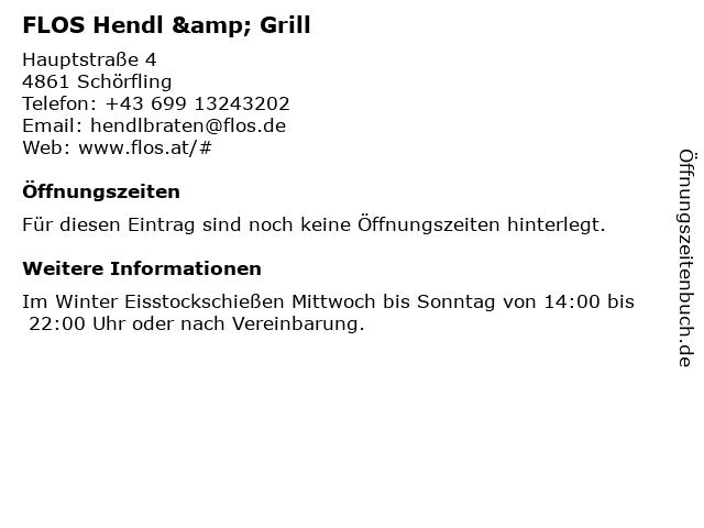 FLOS Hendl & Grill in Schörfling: Adresse und Öffnungszeiten