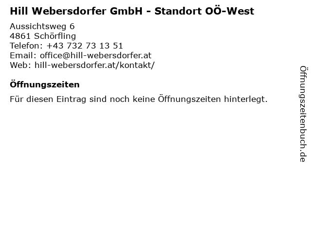 Hill Webersdorfer GmbH - Standort OÖ-West in Schörfling: Adresse und Öffnungszeiten