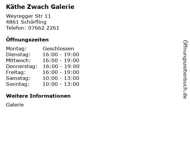 Käthe Zwach Galerie in Schörfling: Adresse und Öffnungszeiten