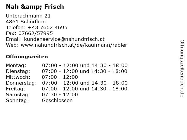 Nah & Frisch in Schörfling: Adresse und Öffnungszeiten