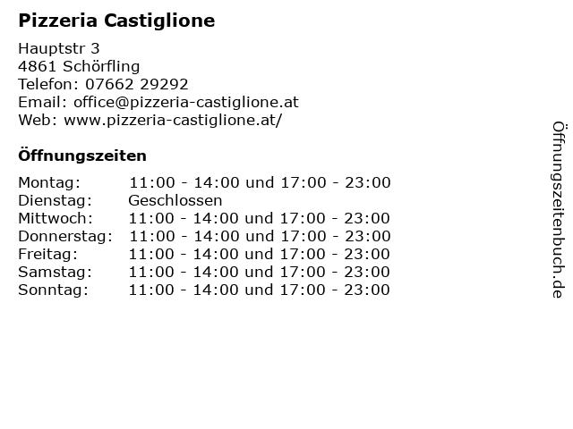 Pizzeria Castiglione in Schörfling: Adresse und Öffnungszeiten