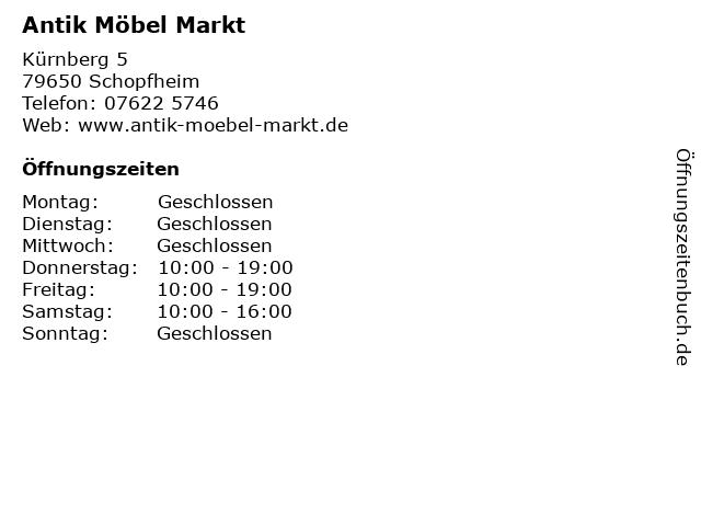 ᐅ öffnungszeiten Antik Möbel Markt Kürnberg 5 In Schopfheim