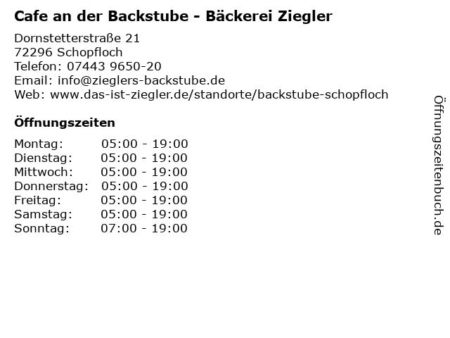 Bäckerei Ziegler in Schopfloch: Adresse und Öffnungszeiten