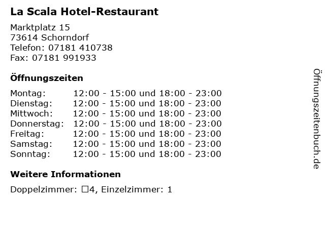 La Scala Hotel-Restaurant in Schorndorf: Adresse und Öffnungszeiten