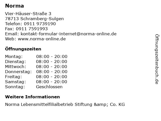 Norma in Schramberg-Sulgen: Adresse und Öffnungszeiten