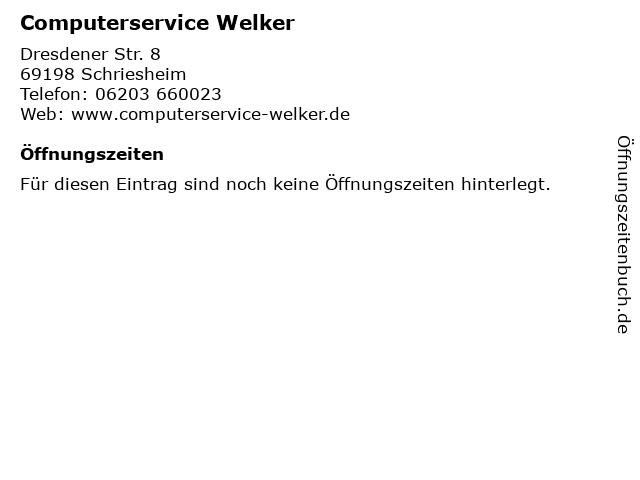 Computerservice Welker in Schriesheim: Adresse und Öffnungszeiten