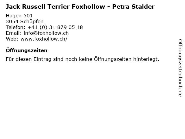 Jack Russell Terrier Foxhollow - Petra Stalder in Schüpfen: Adresse und Öffnungszeiten