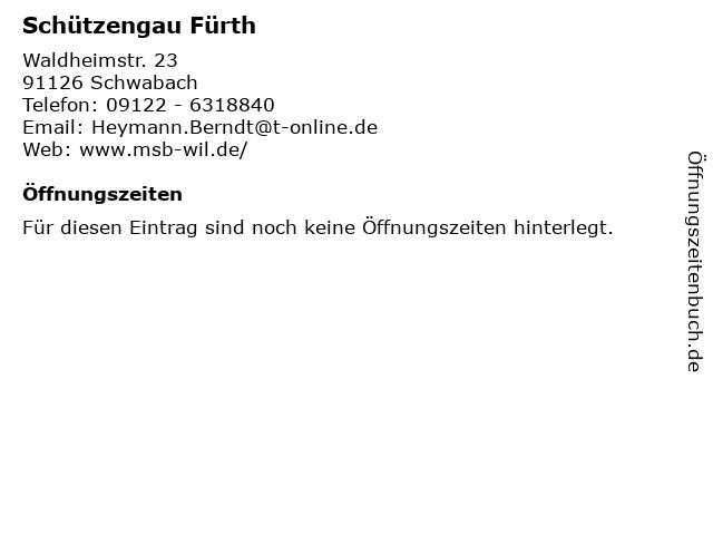 Schützengau Fürth in Schwabach: Adresse und Öffnungszeiten