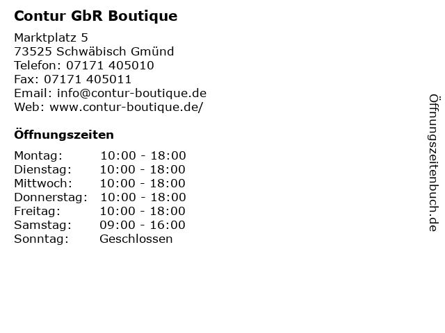 Contur GbR Boutique in Schwäbisch Gmünd: Adresse und Öffnungszeiten