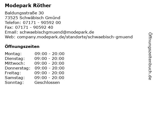 Modepark Röther in Schwäbisch Gmünd: Adresse und Öffnungszeiten