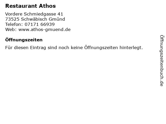 Restaurant Athos in Schwäbisch Gmünd: Adresse und Öffnungszeiten