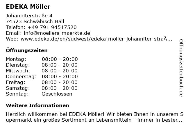 EDEKA Möller in Schwäbisch Hall: Adresse und Öffnungszeiten