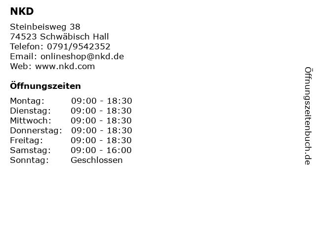 NKD in Schwäbisch Hall: Adresse und Öffnungszeiten