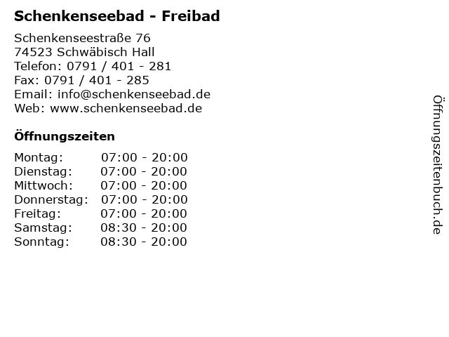 Schenkenseebad - Freibad in Schwäbisch Hall: Adresse und Öffnungszeiten