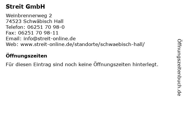 Streit GmbH in Schwäbisch Hall: Adresse und Öffnungszeiten