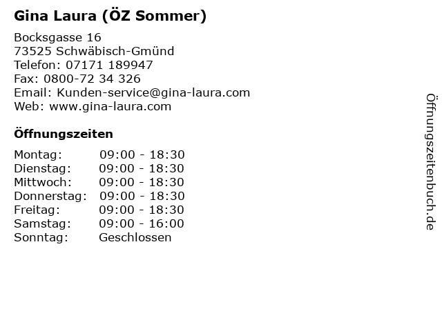 Gina Laura (ÖZ Sommer) in Schwäbisch-Gmünd: Adresse und Öffnungszeiten