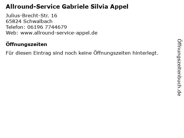 Allround-Service Gabriele Silvia Appel in Schwalbach: Adresse und Öffnungszeiten