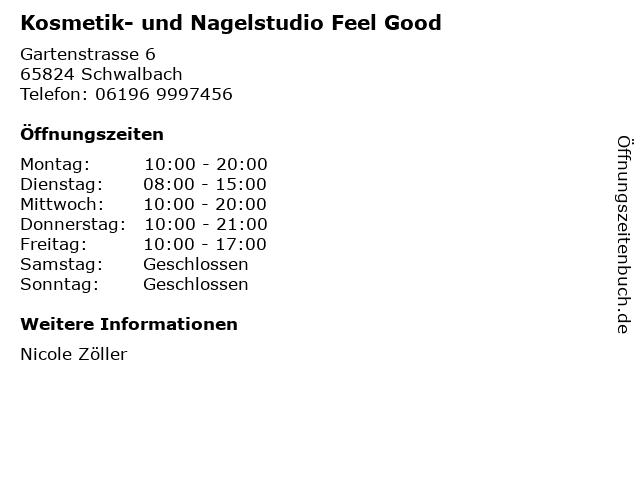 Kosmetik- und Nagelstudio Feel Good in Schwalbach: Adresse und Öffnungszeiten