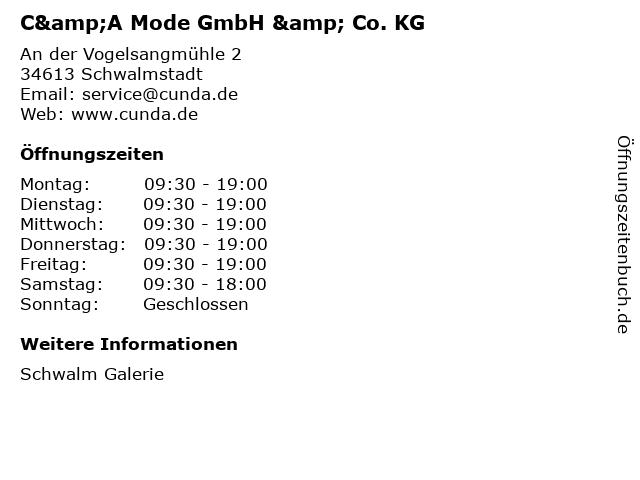 C&A Mode GmbH & Co. KG in Schwalmstadt: Adresse und Öffnungszeiten