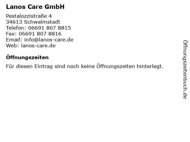 Lanos Care GmbH in Schwalmstadt: Adresse und Öffnungszeiten