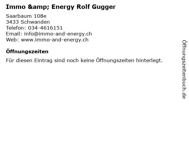 Immo & Energy Rolf Gugger in Schwanden: Adresse und Öffnungszeiten