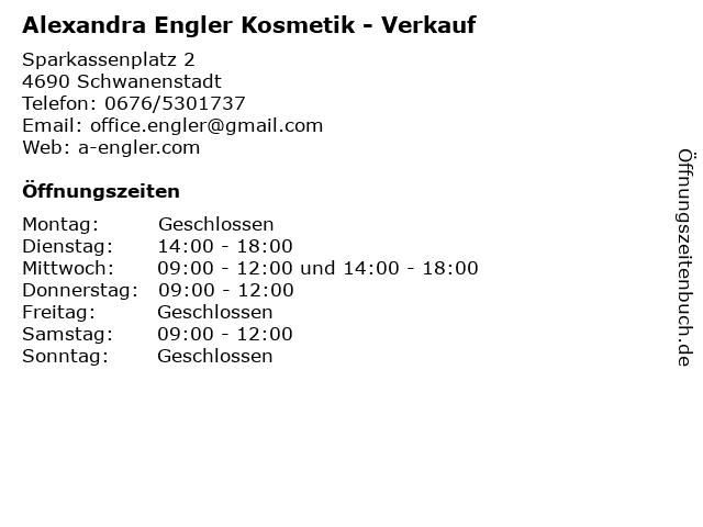 Alexandra Engler Kosmetik - Verkauf in Schwanenstadt: Adresse und Öffnungszeiten
