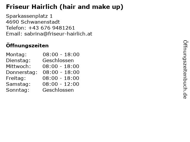 Hairlich Stroblmayr Sabrina in Schwanenstadt: Adresse und Öffnungszeiten