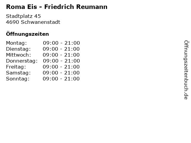Roma Eis - Friedrich Reumann in Schwanenstadt: Adresse und Öffnungszeiten