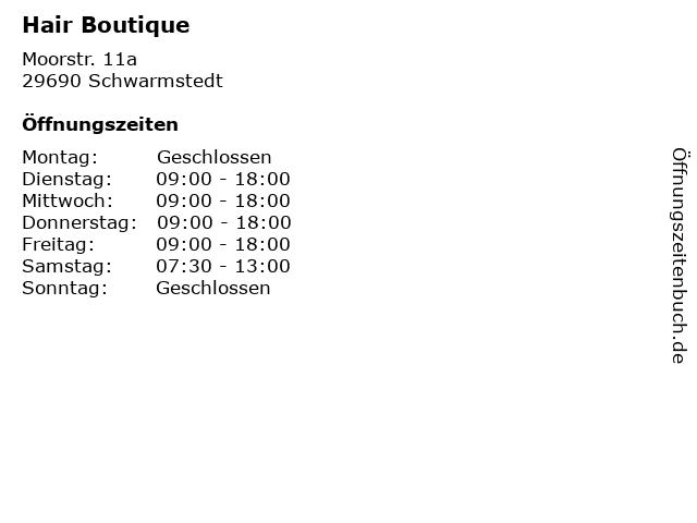 Hair Boutique in Schwarmstedt: Adresse und Öffnungszeiten
