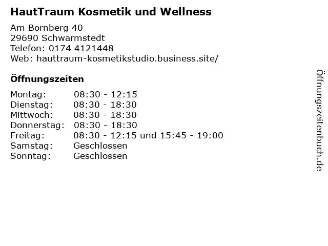 HautTraum Kosmetik und Wellness in Schwarmstedt: Adresse und Öffnungszeiten
