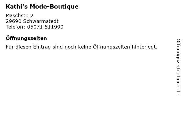Kathi's Mode-Boutique in Schwarmstedt: Adresse und Öffnungszeiten