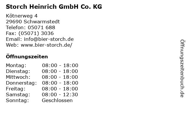 Storch Heinrich GmbH Co. KG in Schwarmstedt: Adresse und Öffnungszeiten