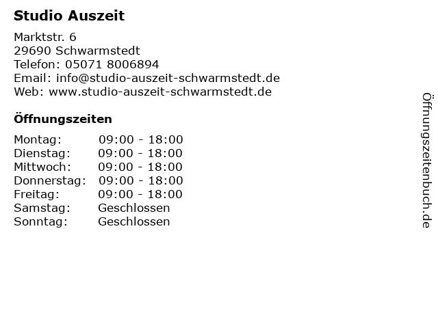 Studio Auszeit in Schwarmstedt: Adresse und Öffnungszeiten