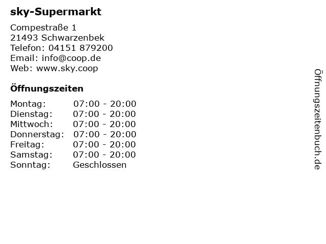 sky-Supermarkt in Schwarzenbek: Adresse und Öffnungszeiten