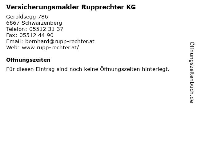 Versicherungsmakler Rupprechter KG in Schwarzenberg: Adresse und Öffnungszeiten