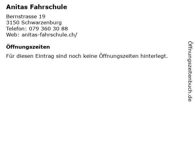 Anitas Fahrschule in Schwarzenburg: Adresse und Öffnungszeiten