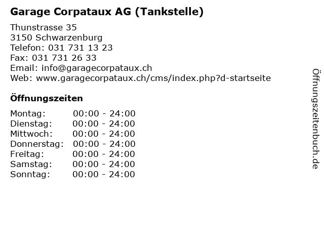 Garage Corpataux AG (Tankstelle) in Schwarzenburg: Adresse und Öffnungszeiten