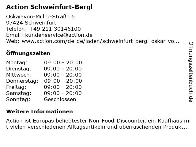 Action Discountmarkt in Schweinfurt: Adresse und Öffnungszeiten