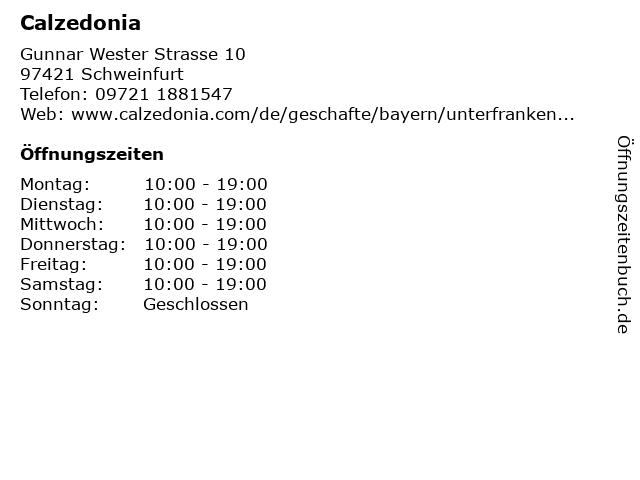 Calzedonia Germany GmbH in Schweinfurt: Adresse und Öffnungszeiten