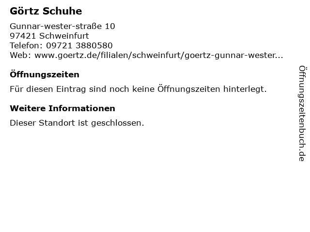 Görtz Retail GmbH in Schweinfurt: Adresse und Öffnungszeiten