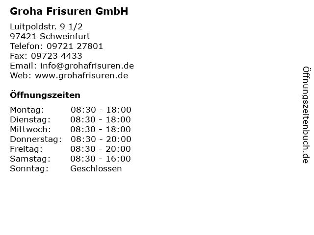 Groha Frisuren Gmbh Schweinfurt