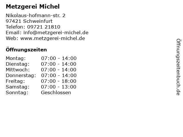 Michel Metzgerei in Schweinfurt: Adresse und Öffnungszeiten
