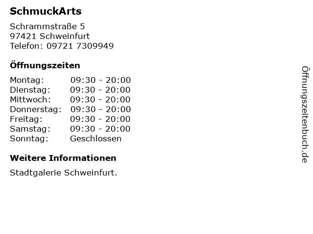 SchmuckArts in Schweinfurt: Adresse und Öffnungszeiten