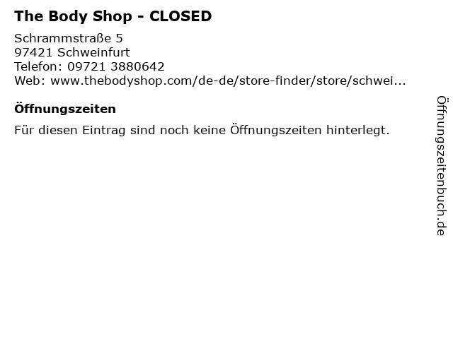 The Body Shop Germany GmbH in Schweinfurt: Adresse und Öffnungszeiten