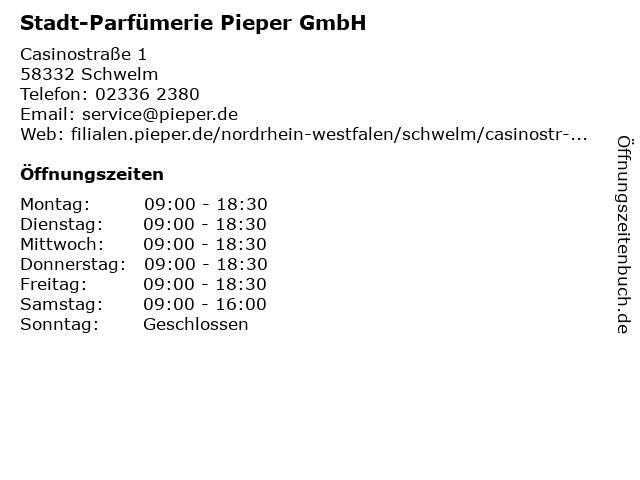 Stadt-Parfümerie Pieper GmbH in Schwelm: Adresse und Öffnungszeiten