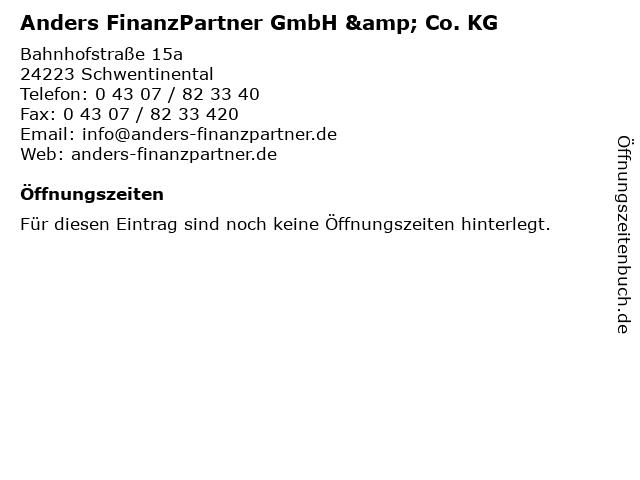 Anders FinanzPartner GmbH & Co. KG in Schwentinental: Adresse und Öffnungszeiten