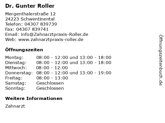 roller schwentinental