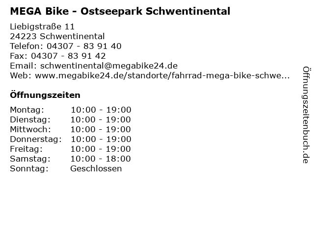MEGA Bike - Ostseepark Schwentinental in Schwentinental: Adresse und Öffnungszeiten