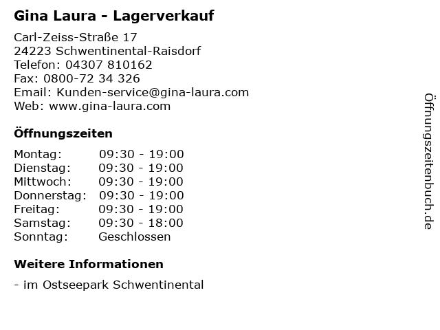 Gina Laura - Lagerverkauf in Schwentinental-Raisdorf: Adresse und Öffnungszeiten